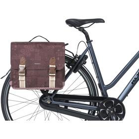 Basil Bohème Double Bicycle Bag MIK 35l, czerwony